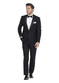 Anton Black Wool Blend Suit