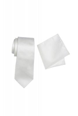 Breeze Mens Tie And Pocket Hank Set Ivory