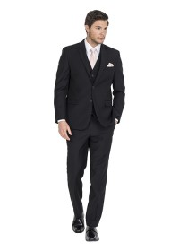Chicago Black Wool Blend Lounge Suit