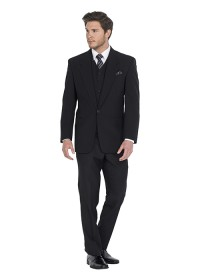 Prince Black Hire Lounge Suit