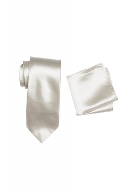Hire Satin Hank & Tie set Chablis