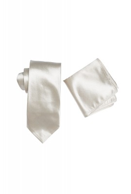 Hire Satin Hank & Tie set Ivory