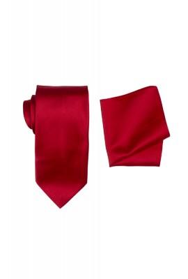 Hire Satin Hank & Tie set Red