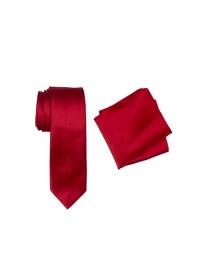 Hire Satin Skinny Hank & Tie set Red
