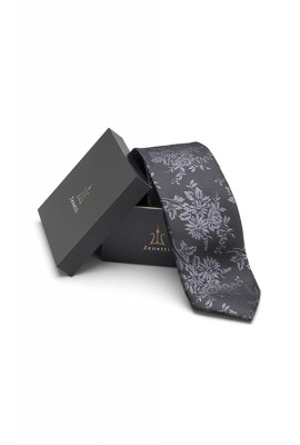 ZTH020 Black Long Tie and Hank Set