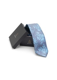 ZTH020 Teal Long Tie and Hank Set