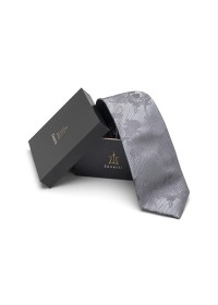 Zenetti silk tie and Pocket Square box set grey