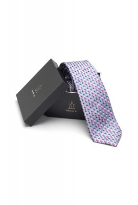 ZTH027 Mens Long Tie and Pocket Square Set Pink