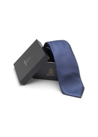 ZTH030 Zenetti silk tie and hank box set Navy