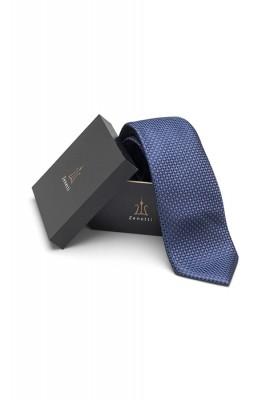 ZTH030 Zenetti silk tie and hank box set Navy