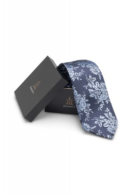 ZTH020 Navy Long Tie and Hank Set