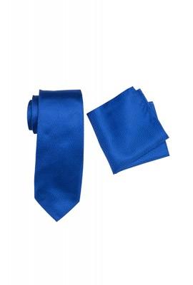 Breeze Mens Tie And Pocket Hank Set Cobalt