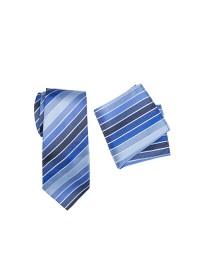 Chase Striped Tie Set Blue
