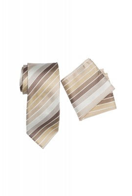Chase Striped Tie Set Latte