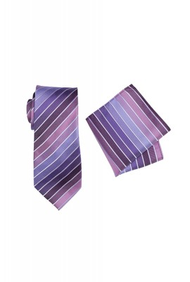 Chase Striped Tie Set Lilac