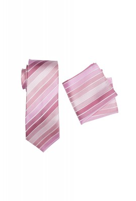 Chase Striped Tie Set Pink