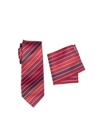 Chase Striped Tie Set Red