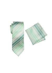 Chase Striped Tie Set Sage