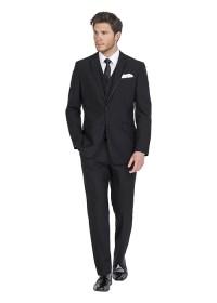 Cannes Black Slim Fit Hire Suit