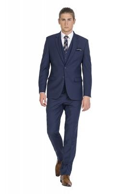 ZJK042 Zenetti Blue Notch Lapel Dinner Jacket