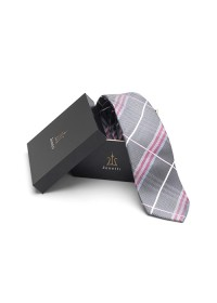 ZTH039 Zenetti silk tie and hank box set grey