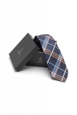 ZTH039 Zenetti silk tie and hank box set Navy