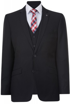 IJK045 Nlack Lounge Suit Jacket