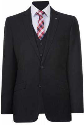 IJK045 Nlack Lounge Suit Jacket