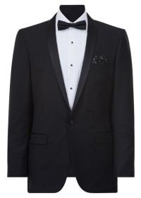 IJK046 Black Dinner Suit Jacket