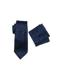 Umbria Blue Tie And Pocket Hank Set
