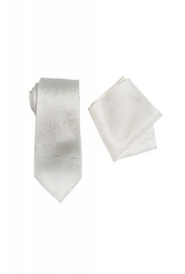 Umbria Ivory Tie And Pocket Hank Set