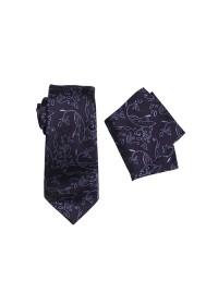 Umbria Purple Tie And Pocket Hank Set
