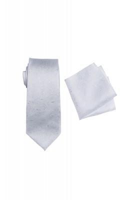 Umbria White Tie And Pocket Hank Set