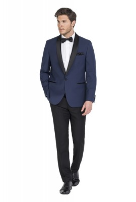 Xavier Blue Wool Blend Dinner Suit